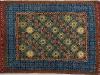 Crosshead,  lana annodata a mano su ordito di cotone,  cm.180x220,  2000