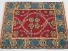 Mukunni red version,  lana annodata a mano su ordito di cotone,  cm.150x200,  2000