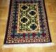 Ok un cazzo  blue and green ,  lana annodata a mano su ordito di cotone,  cm.90x140,  2000