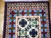 Ok un cazzo  blue and green ( particolare) ,  lana annodata a mano su ordito di cotone,  cm.90x140,  2000
