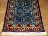 Ok un cazzo  pale blue,  lana annodata a mano su ordito di cotone,  cm.90x140,  2000