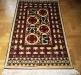 Ok un cazzo  red and white,  lana annodata a mano su ordito di cotone,  cm.90x140,  2000