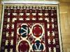 Ok un cazzo  red and white (particolare),  lana annodata a mano su ordito di cotone,  cm.90x140,  2000