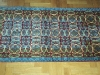 Prayer pale blue,  lana annodata a mano su ordito di cotone,  cm.80x120,  2000