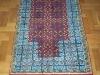 Prayer red and blue  ,  lana annodata a mano su ordito di cotone,  cm.80x120,  2000