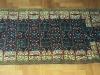 Prayer deep blue  ,  lana annodata a mano su ordito di cotone,  cm.80x120,  2000