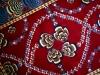 Mukunni red version ( particolare),  lana annodata a mano su ordito di cotone,  cm.150x200,  2000