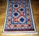Ok un cazzo blue and red,  lana annodata a mano su ordito di cotone,  cm.90x140,  2000