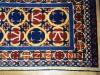 Ok un cazzo blue and red, (particolare)  lana annodata a mano su ordito di cotone,  cm.90x140,  2000