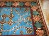Mukunni ( particolare),  lana annodata a mano su ordito di cotone,  cm.50x200,  2000