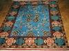 Mukunni,  lana annodata a mano su ordito di cotone,  cm.150x200,  2000