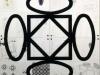 Terra-terra(composizione 4 elementi),  serigrafia su plexiglass, su carta,   cm. 120x120 ( 60x60 per elemento),  1992