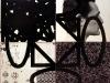 Terra-terra(composizione 4 elementi),  serigrafia su materiali vari, olio su tela, foto,   cm. 120x120 ( 60x60 per elemento),  1992