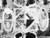 Formato terra, composizione 4 elementi,  fotografie su bilaminato,  cm. 120x120,  1994